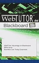 Business Law Today Essentials Web Tutor on Blackboard