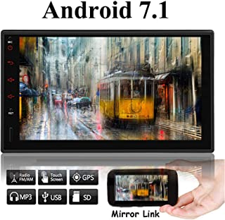 EINCAR 7 inch IPS Panel Android 7.1 Quad-Core 1GB+16GB,Android Auto,Quick Charge Car Stereo Radio Double Din with WiFi Built-in Bluetooth GPS Navigation, Support Fastboot, Backup Camera