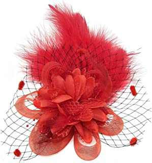 Fascinators Hair Clip Headband Feather Flower Veil Wedding Headwear Bridal 1920s Headpiece