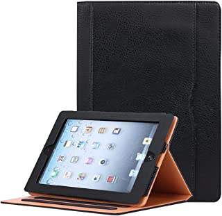 JYtrend iPad 2 /iPad 3 /iPad 4 Case, Multi-Angle Viewing Stand Leather Folio Smart Cover with Pocket, Auto Wake Up/Sleep for iPad 2/3/4 A1395 A1396 A1397 A1403 A1416 A1430 A1458 A1459 A1460 (Black)