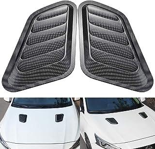 Air Vent Hood 2x Car Decorative Air Scoop Intake Hood Vent Bonnet Universal DIY Style Silver