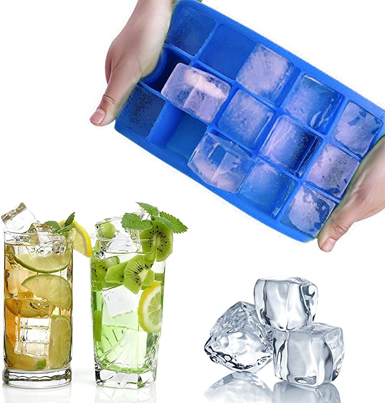 Ice Cube Trays Easy Release Silicone Ice Cube Mold Ice Cube Maker For Whiskey Cocktail And More 1 Pack
