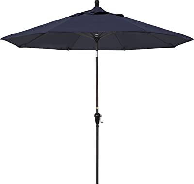 California Umbrella SDAU908117-SA39 9' Round Aluminum Market Umbrella, Pacifica Navy Blue