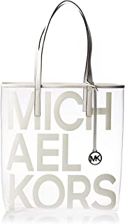 Michael Kors Tote Bag for Women- Clear/White