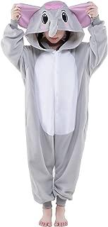 Children Unisex Grey Elephants Pajamas Cosplay Sleeping Wear