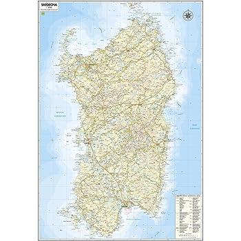 Cartina Politica Sardegna 2017.Carta Geografica Murale Regionale Sardegna 100x140 Bifacciale Fisica E Politica Amazon It Cancelleria E Prodotti Per Ufficio