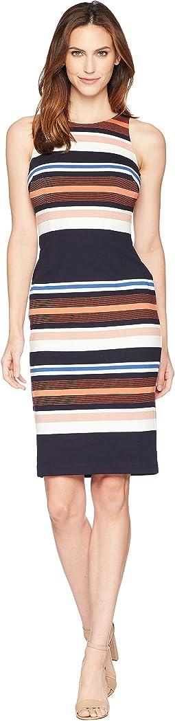 Yarn-Dyed Striped Sheath