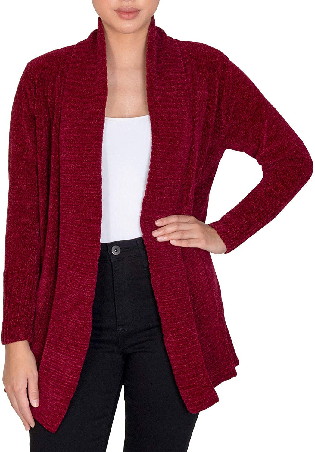 7 JEANS Women's Ranking TOP1 Chenille Open-Front Free shipping / New Cardigan Port Tawny M