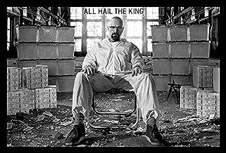 buyartforless IF PW 50821 36x24 1.25 Black Framed Breaking Bad - All Hail The King Walter White 36X24 Tv Art Print Poster ...