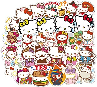 Hello Kitty Sticker Pack of 100 Stickers Hello Kitty Lovely Decals for Laptops Hydro Flasks Water Bottles Luggage