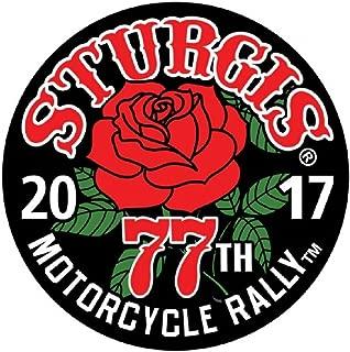 2017 Sturgis Rally 77th Anniversary Rose 3.5 inch Biker Rally Patch