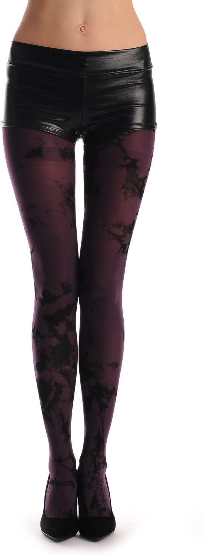 Plum & Black Colour Splash (Tie Dye) - Tights
