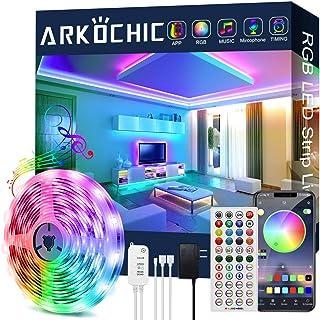 20ft LED Lights for Bedroom, ARKOCHIC Led Strip Lights Music Sync Smart Led Lights, 5050 RGB Color Changing LED Strips wit...