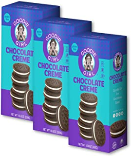 Goodie Girl Cookies, Chocolate Creme Sandwich Gluten Free Cookies, Peanut Free Cookies (10.6oz Box, Pack of 3)