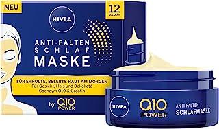 NIVEA Q10 POWER Anti-Falten Schlafmaske im 1er Pack 1 x 50 ml, straffende & pflegende Gesichtsmaske, coole Gesichtspflege für erholte & belebte Haut am Morgen