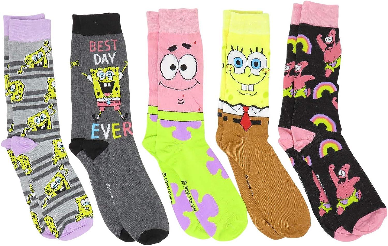 Hyp Spongebob Squarepants Patrick Characters Crew Socks Men's Nippon regular agency OFFicial 5