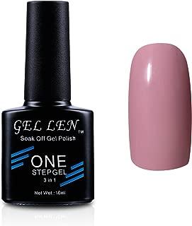 Gellen Soak Off One Step Gel Nail Polish No Need Base Top Coats 3 In 1 UV/LED Cure 10ml Color #19