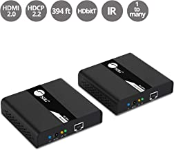 SIIG 4K 60Hz HDMI Extender Over IP Single Cat6 Cable with IR Remote Control 394ft (120m) - One to One Connection, One to Many Connection - HDMI 2.0 HDCP 2.2 (TX&RX: CE-H24911-S1)