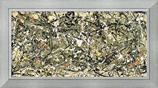 Framed Wall Art Print Number 8, 1949 by Jackson Pollock 54.25 x 29.50