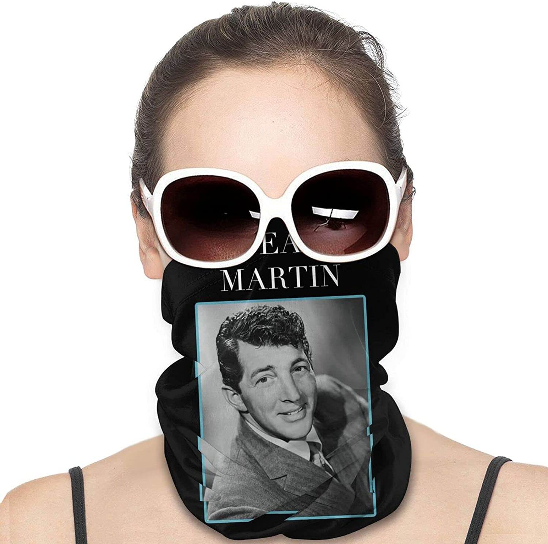 Dean Martin Men Women Neck Gaiter Multifunctional Uv Protection Face Mask Fashion Scarf Cool Bandana Hiking Headwear Neck Scarf Balaclava
