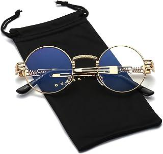 587895d4c7 Dumok Round Metal Steampunk Vintage Circle Sunglasses DSR007