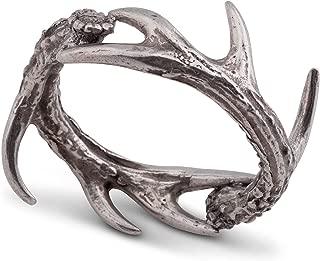 Vagabond House Solid Pewter Cast Metal Antler/Horn/Deer Rustic Napkin Ring 1.5