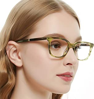 9d778974df49 OCCI CHIARI Women Rectangle Stylish Non-prescription Eyewear Frame With  Clear Lenses