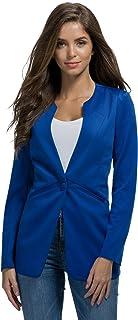 My Wonderful World Blazer Coat Jacket Women's One Button Boyfriend Work Blazer