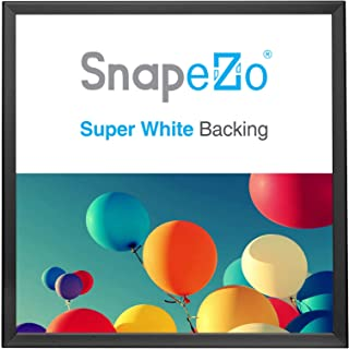 SnapeZo Poster Frame 36x36 Inches, Black 1.25 Inch Aluminum Profile, Front-Loading Snap Frame, Wall Mounting, Professional Series