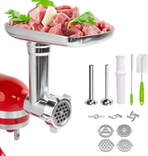 Decorlife Meat Grinder Attachment for KitchenAid Stand Mixer, Includes Durable Sausage Stuffer Kit, Food Grinder Attachment for Pork, Beef, Making Sausages, Meatloaf, Burgers, Meatballs