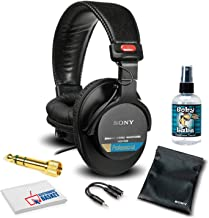 Sony MDR-7506 Headphones Professional Large Diaphragm Headphone Bundle with Headphone Cleaning Solution+ More