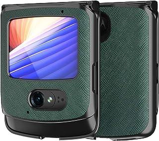 COQUE Razr 5G case/cross fine leather pattern case,PC all-inclusive style,180˚ folding mobile phone case for Motorola Razr...