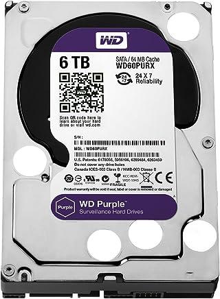 WD Purple 6TB Surveillance Hard Disk Drive - 5400 RPM Class SATA 6 Gb/s 64MB Cache 3.5 Inch - WD60PURX