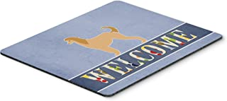 Caroline's Treasures BB5510MP Afghan Hound Welcome Mouse Pad, Hot Pad or Trivet, Large, Multicolor