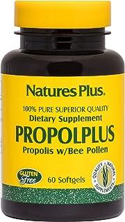 NaturesPlus Propolplus - 180 mg, 60 Softgels - Quality Bee Propolis Supplement with Bee Pollen - 60 Servings