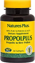 NaturesPlus Propolplus - 180 mg, 60 Softgels - Pure, Superior Quality Bee Propolis Supplement with Bee Pollen - Immune Booster, Anti-Inflammatory - Gluten-Free - 60 Servings