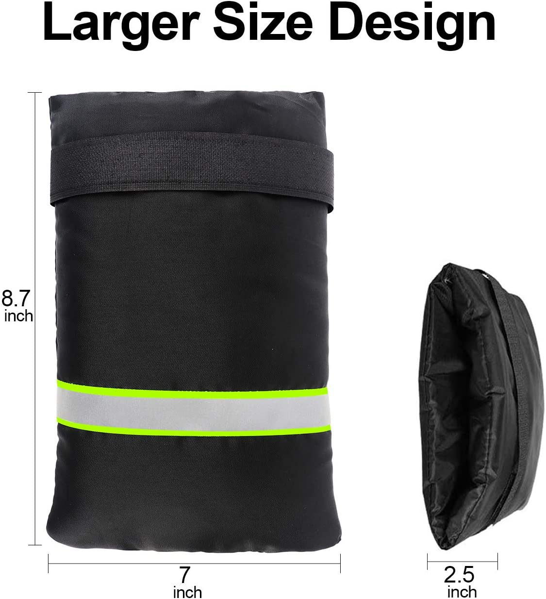 Faucet Cover Jacket Insulated Protector with Reflective Strap Garden Outdoor Faucet Covers for Winter 2Pcs 15 x 22cm Darkblack LAMA Outside Faucet Cover,