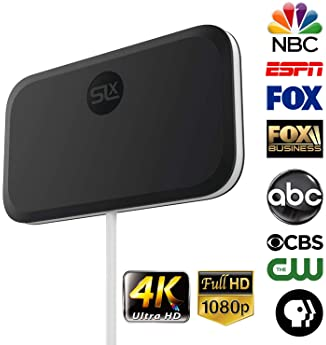 TV Antenna, SLx Digital Antenna for HDTV, HD Antenna for 4K 1080P UHF VHF Freeview HDTV Channels, Indoor Antenna Digi...
