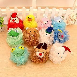 Sanwooden Toy Gift Bath Sponge Cute Animal Bear Frog Dog Kids Children Shower Bath Mesh Sponge Puff Ball Toy Other Bathroo...