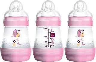 MAM Baby Bottles for Breastfed Babies, MAM Bottles Anti Colic, Girl,