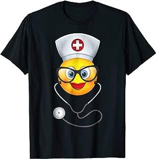Nurse Halloween Shirt Funny Emoji Nurse Costume T-Shirt