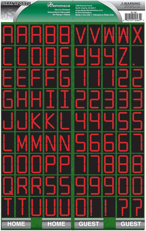 Reminisce Real Sports Scoreboard Alphabet Sticker