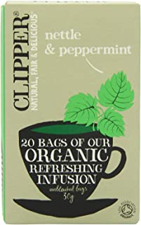 Clipper Teas - Nettle & Peppermint Organic Refreshing Infusion - 20 Bags