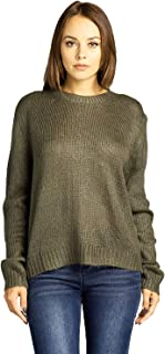 ICONICC Women's Crew Neck Knit Sweater Pullover