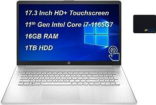 لابتوب اتش بي 2021، شاشة لمس 17.3 انش دقة HD+، معالج انتل كورi7-1165G7 جيل 11 حتى 4.7 جيجاهرتز ذاكرة DDR4 سعة 16جيجا، HDDس...