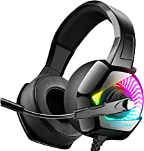 Best ONIKUMA Gaming Headset for PS4 with 7.1 Surround Sound & RGB LED Light,Xbox One Headset and Noise Canceling Headset with Microphone Compatible with PC/Mac/Nintendo Switch (Adapter Not Included) Review
