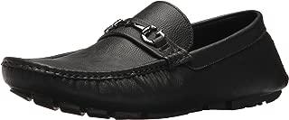 Men's ADLERS Driving Style Loafer, Black Smooth, 10 Medium US