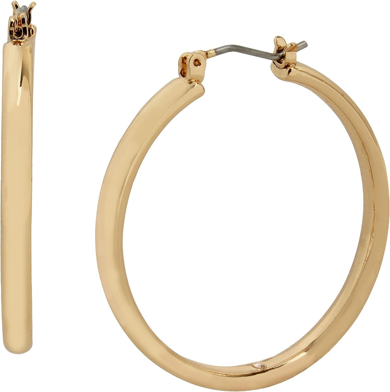 Betsey Johnson Tube Hoop Earrings