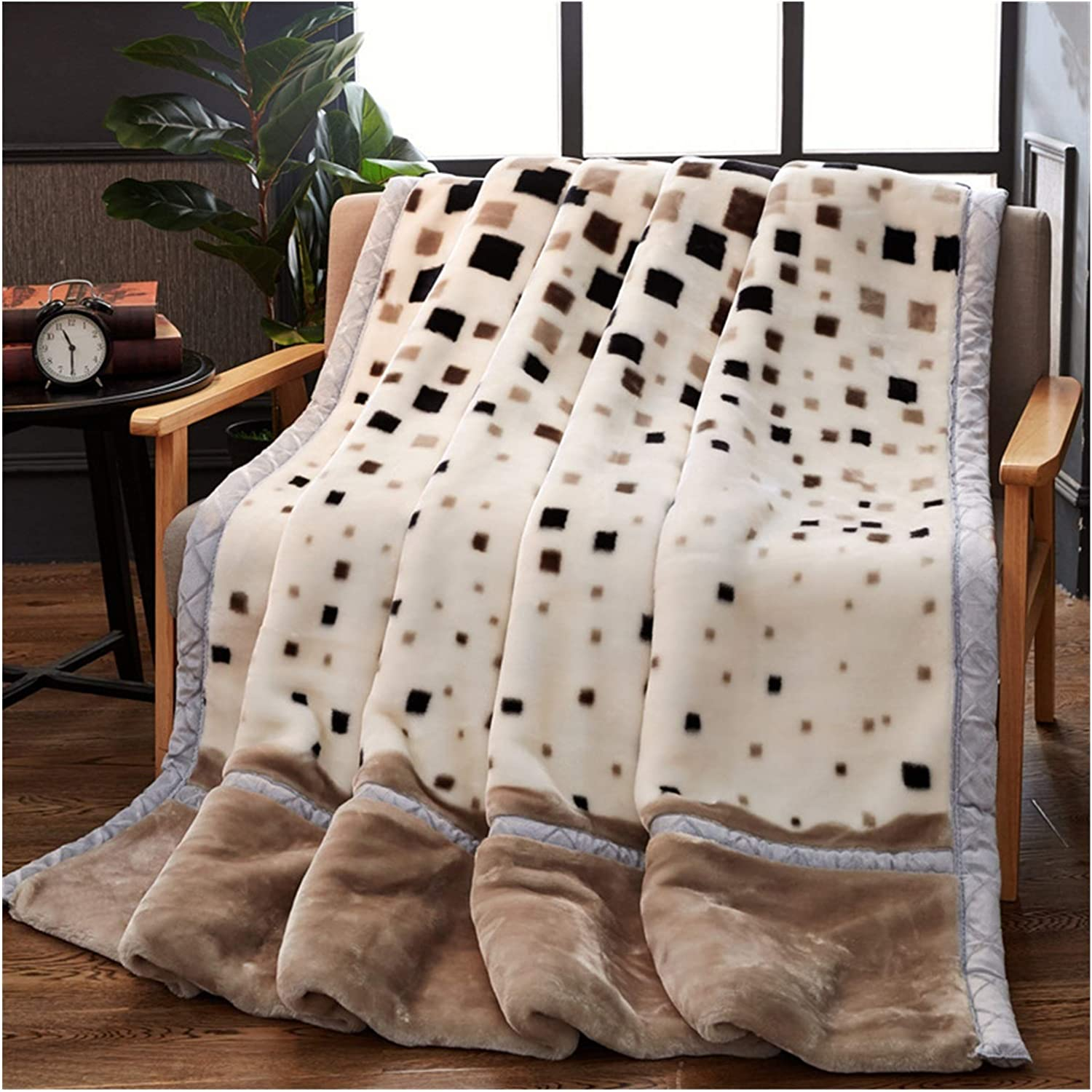 Translated JDJD Double Layer Winter Thicken Weighted Blanket Raschel Industry No. 1 Plush