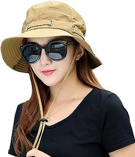 Kafeimali Summer Sun Men Women Wide Brim UV Beach Caps Sports Fishing Hats 86072ae1b5be